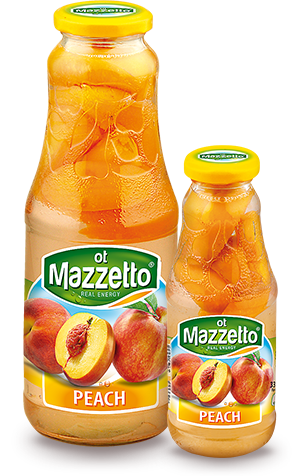 Drink with fruit: Peach